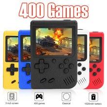 Przenośny Retro gra wideo konsoli 3 cal ekran LCD Retro konsola do gier 8-Bit Mini kieszeń przenośny odtwarzacz gier wbudowany w 400 gry