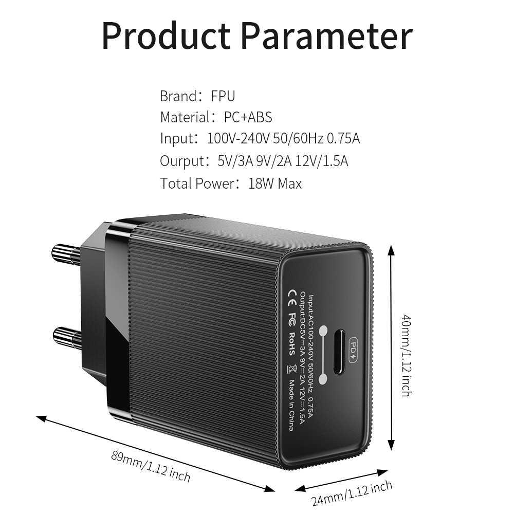 Carregador rápido qc 4.0 do usb c do qc 3.0 para o carregador portátil máximo do telefone do iphone 11 pro carregador rápido 18 w qc4.0 qc3.0 da carga rápida de fpu 4.0 pd