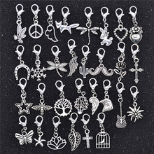 Flower Charms Jewelry Bracelet-Pendants Clasp Lobster Making-Accessories Animal Heart-Leaf