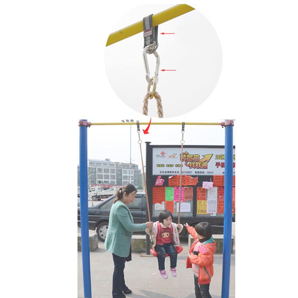 2pcs 300KG Bearing Load Hanging Belt Straps Hook for Garden Swing Set 24-64cm
