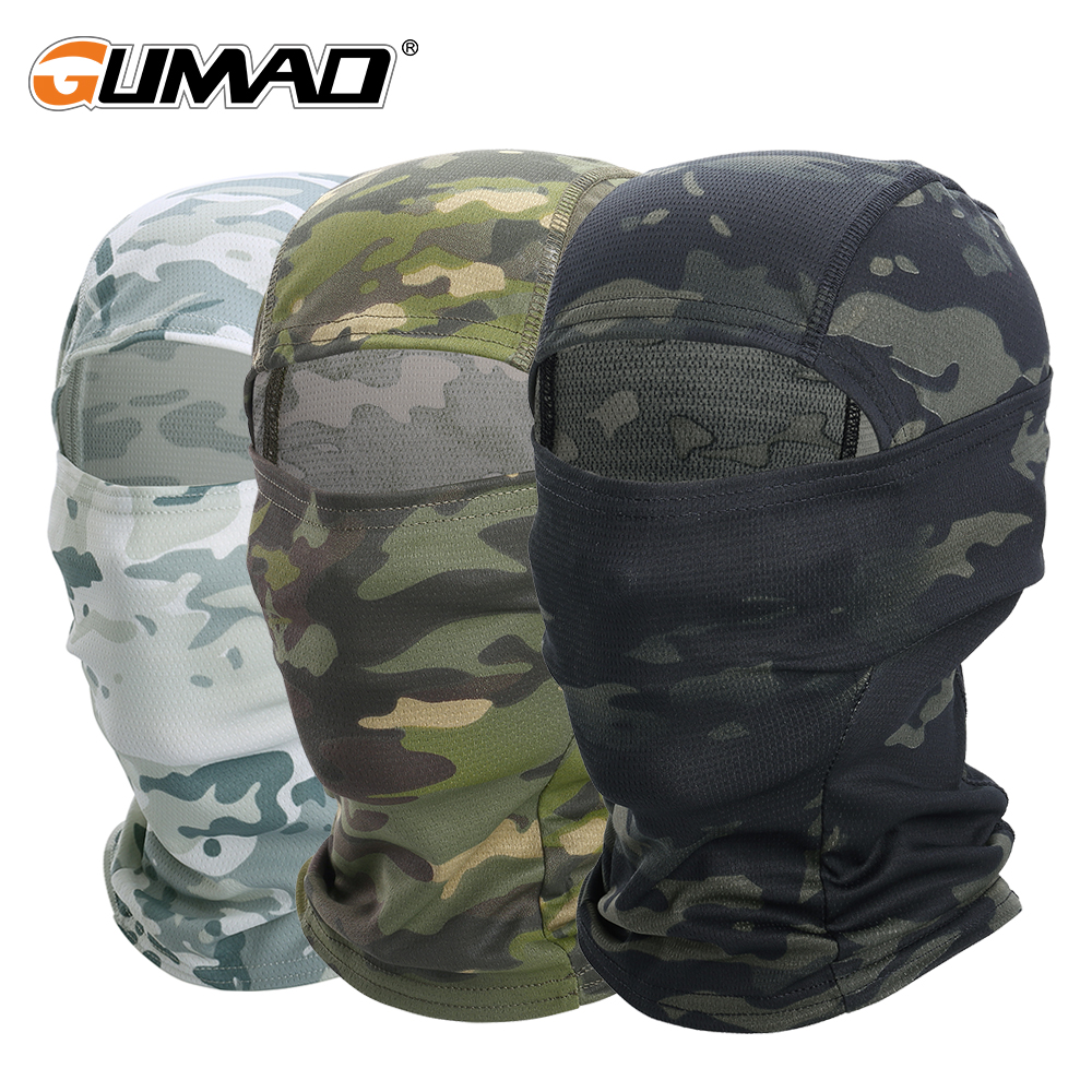 Multicam CP Camouflage Balaclava Full Face Scarf Wargame Cycling Hunting Army Bike Military Helmet Liner Tactical Airsoft Cap(China)