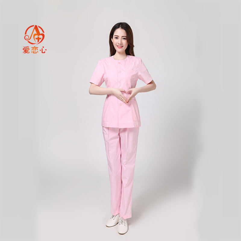 2019 Fashion Women's Short-sleeved Hand-washing Sets Of Medical Beauty Plastic Surgery Doctor Brush Hand Clothes Clothing-A&X