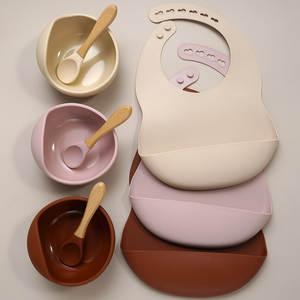 Baby Bibs Feeding-Tableware Breakfast Muslinlife Waterproof Silicone Toddler
