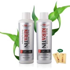 Image 2 - 120ml משלוח קרטין פורמלין קוקוס ריח שיער טיפול טבעי + 120ml טיהור שמפו מיישר עבור שיער