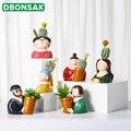 Полимерная ваза  цветочный горшок с героями мультфильмов  ваза для лица человека  сочная Цветочная композиция для вазы  гостиной  спальни  н...