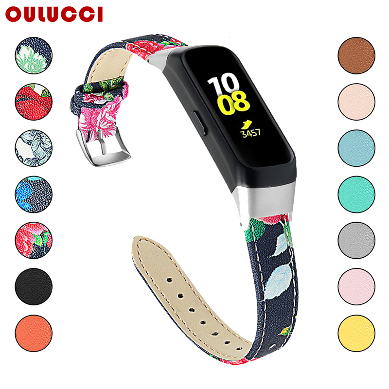 OULUCCI Leather Printing Watch Band For Samsung Galaxy SM R370 Watch Band Bracelet Strap For Samsung Galaxy Watch Strap