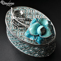 Painted vintage European Korean princess jewelry jewelry collection box gift ring box necklace Box earring holder wedding decor