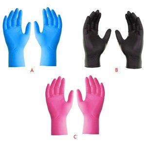 50 Pair Food Grade Disposable Gloves Kitchen Garden Work Dishwashing Waterproof Nitrile Gloves Anti-slip Anti-Oil Wear-resistant
