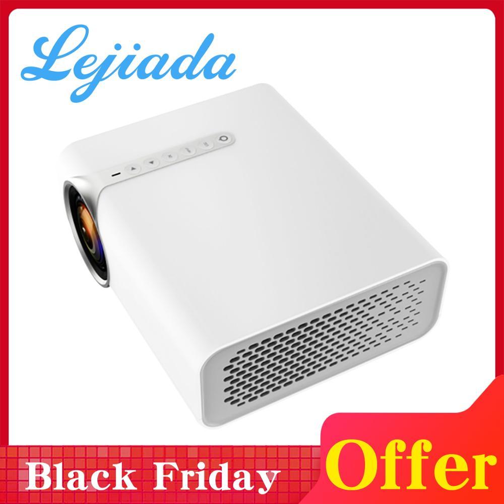 LEJIADA YG530 projecteur de téléphone portable pour système de cinéma maison film vidéo projecteur maison mini HD 1080P projecteur