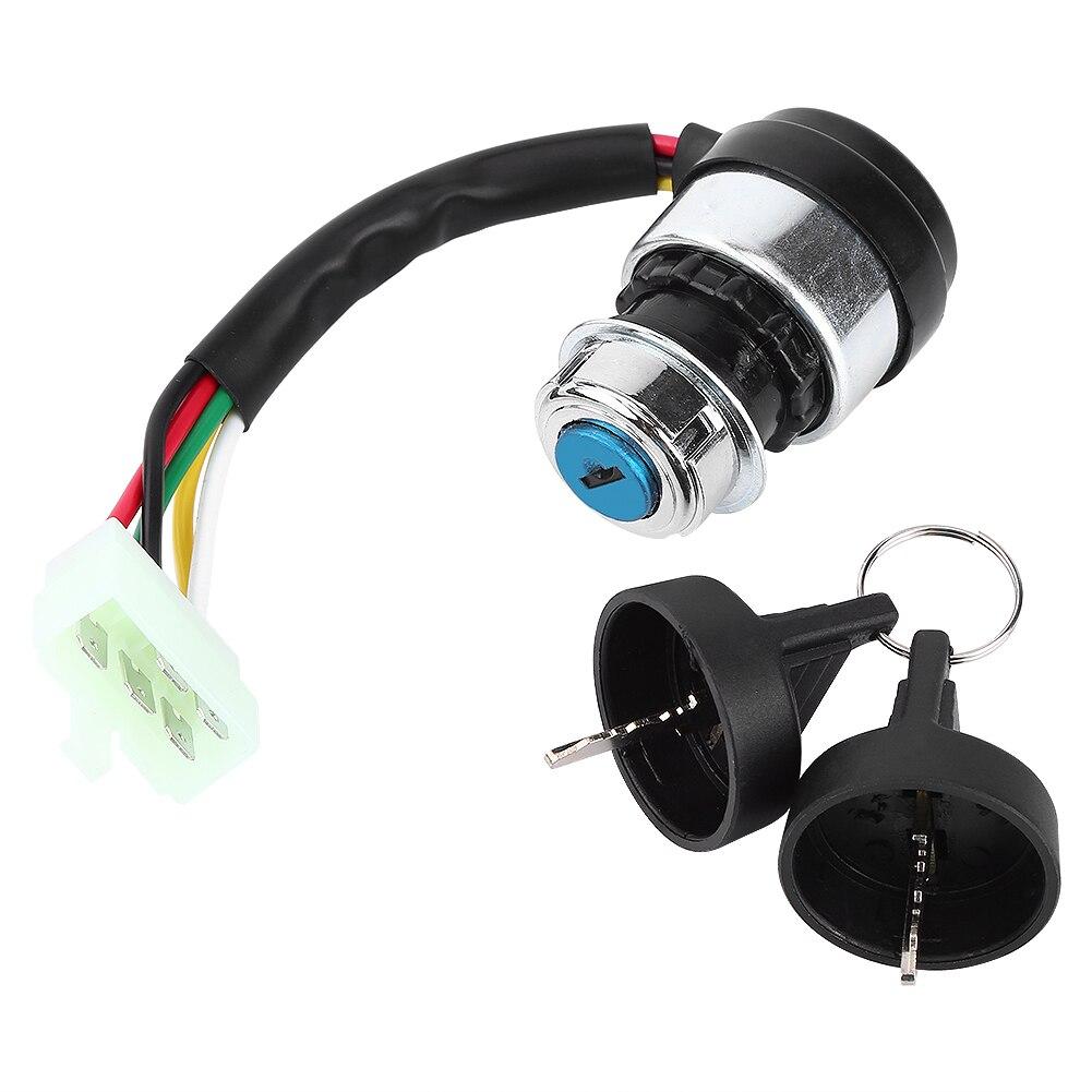 Переключатель зажигания 5 проводов pin ключ замок запуска для