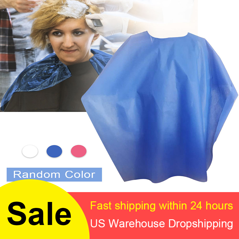 100pcs Non-Woven Dyed Bib Thickened Waterproof Perm Disposable Cloth Special Perm Hair Salon Shawl Barber Shop 85*120cm image