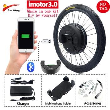 IMotor-Kit de conversión de Bicicleta eléctrica, Motor de buje sin escobillas de...