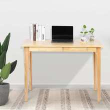 Office-Desk Two-Drawers Modern-Wood with for Home Simple