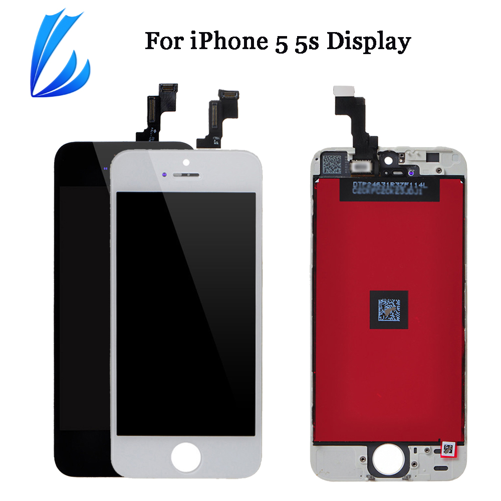 LL TRADER 100% Tested 5g 5s Touch Screen Mobile Phone Replacement For iPhone 5s 5 LCD Display No Dead Pixel Digitizer Assembly