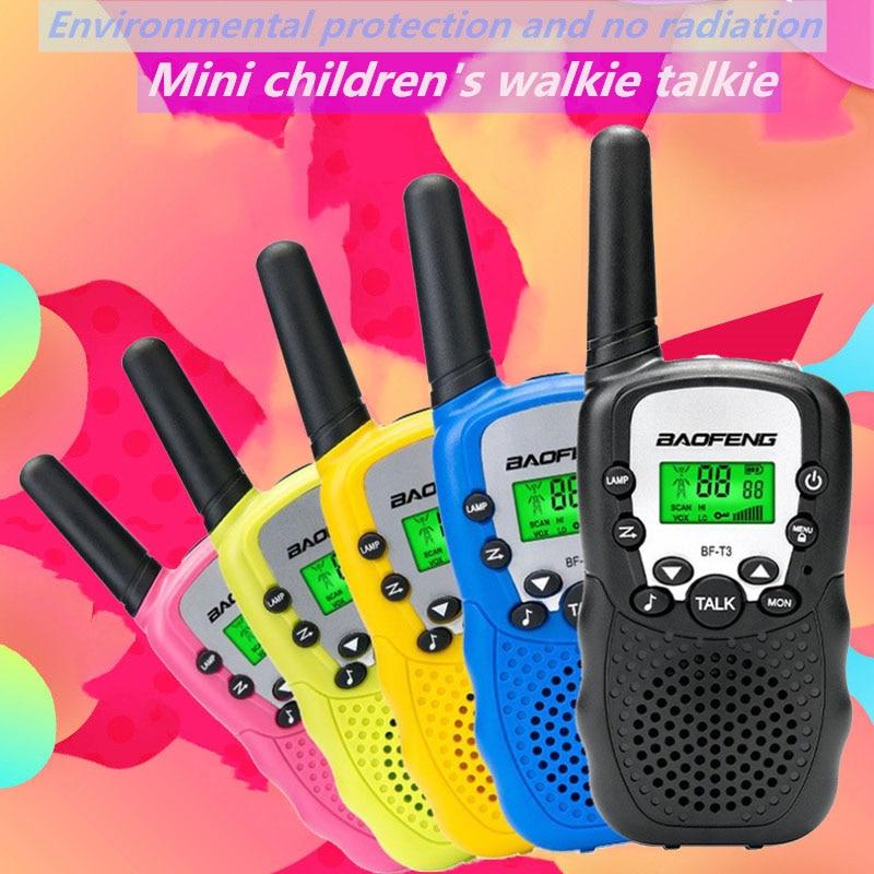 """Оптовая продажа детей мини UHF иди и болтай Walkie Talkie """"иди и BF-T3 Baofeng FRS двухстороннее радио Comunicador T3 удобный рации коротковолновым приемником"""