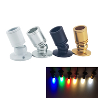 10 pcs 1W 3W LED bianco caldo AC85-265V Mini superficie montata luce Led Downlight gioielli armadio lampada DC12V Mini lampada Spotlight