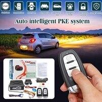 Universal Car PKE Induction Burglar Alarm System Protection Auto Remote Central Car Security System Kit With 2 Remote Control Burglar Alarm    -