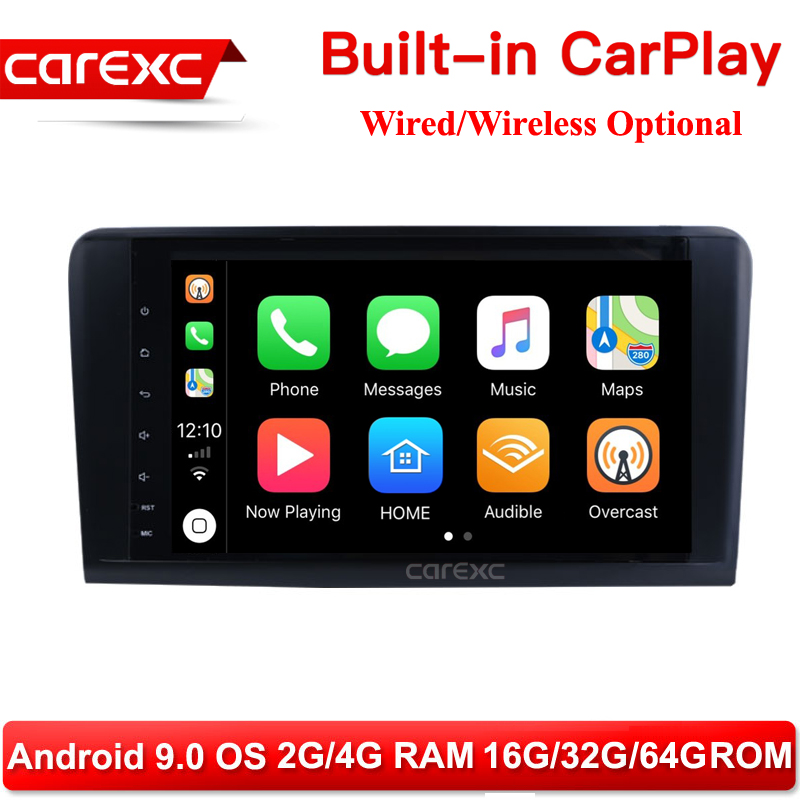 CarExc Android 9.0 <font><b>Radio</b></font> CarPlay GPS Navigation For <font><b>Mercedes</b></font> Benz <font><b>ML</b></font> GL <font><b>W164</b></font> ML350 ML500 GL320 Stereo Muiltmedia Player image