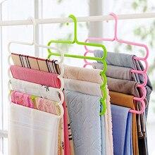 1 шт. Многофункциональная вешалка для одежды, 5 слоев, вешалка для брюк, тканевая стойка, многослойная вешалка для хранения шарфов, галстуков, экономия пространства, вешалка для одежды