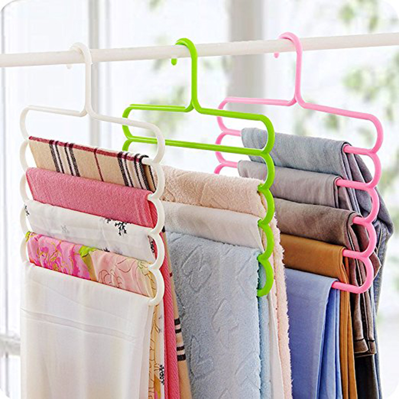 Where to buy  1 pcs Multi-purpose Clothes Hanger 5 Layers Pants Hanger Cloth Rack Multilayer Storage Scarf Tie Sp