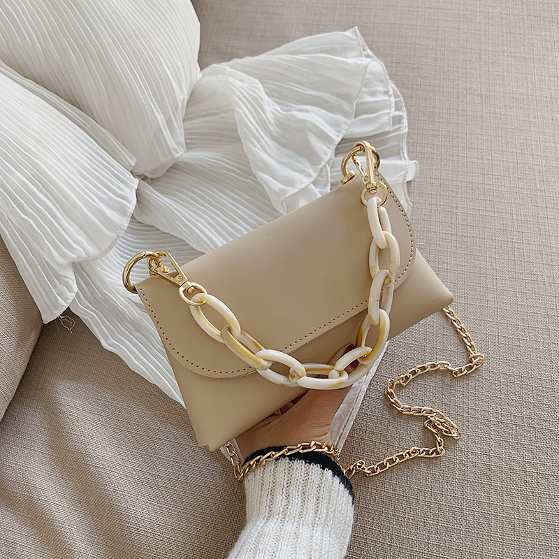 2020 PU Leather Crossbody Bags For Women Cute Chain Designer Fashion Small Shoulder Messenger Bags Female Purses And Handbags