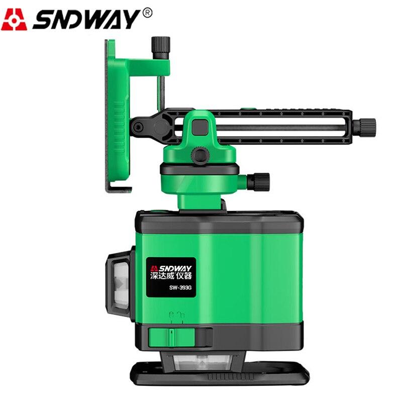 SNDWAY SW393G 12 линия зеленый свет лазерный измеритель уровня автоматический выравнивающий инструмент строительные инструменты 15 м дистанционн