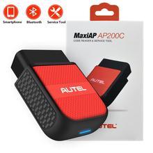 Autel maxiap ap200c bluetooth diagnóstico todos os varredores de sistema leitores de código obdii
