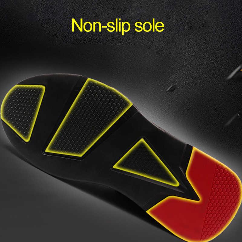 Man STEEL TOE CAP รองเท้าความปลอดภัยน้ำหนักเบา Breathable รองเท้าผ้าใบกลางแจ้งเจาะหลักฐานรองเท้าทำลายรองเท้าสำหรับ Man