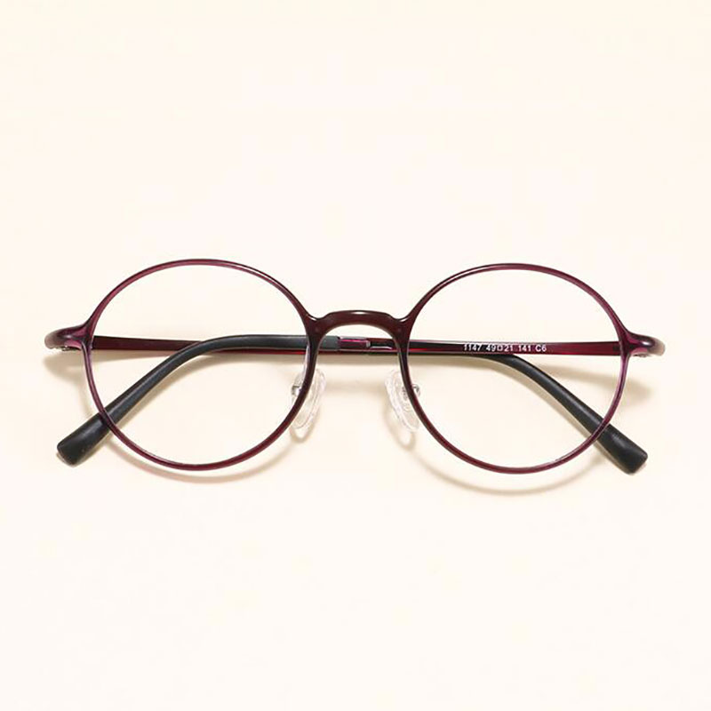Image 5 - HOTOCHKI New Men and Women Oval Flat Eyeglasses Lightweight Plastic Steel Spectacles Frames Spring Spectacle FrameMens Eyewear Frames   -