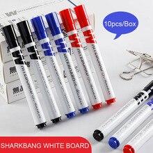 Sharkbang 10pcs/Sete  2.6mm Whiteboard Pen Black/Blue/Red Drawing Marker Oil Pens For Kids School Stationery Supplies Pens