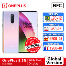 Versão global oneplus 8 5g smartphone 8gb 128gb snapdragon 865 6.55 90 90 90hz display fluido 48mp triplo oneplus loja oficial nfc, code: 1PLUS($20-12:For Brazail new buyer),ae21tech29($199-29)tech199cymye($199-29)