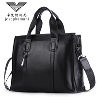 British style briefcase men genuine leather handbag High end JOSEPHAMANI Brand messenger bag New Head layer cow shoulder bag