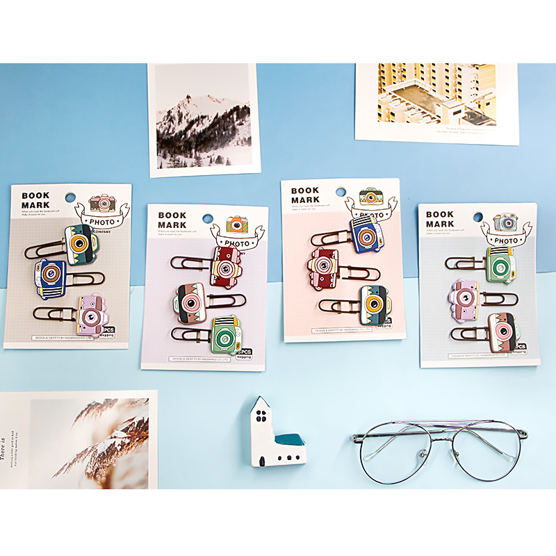 Micro Records Soft Silcone Bookmark Reading Paging Bookmark Mini Cute Students Bookmark Gift Paper Clip A Set Of Three