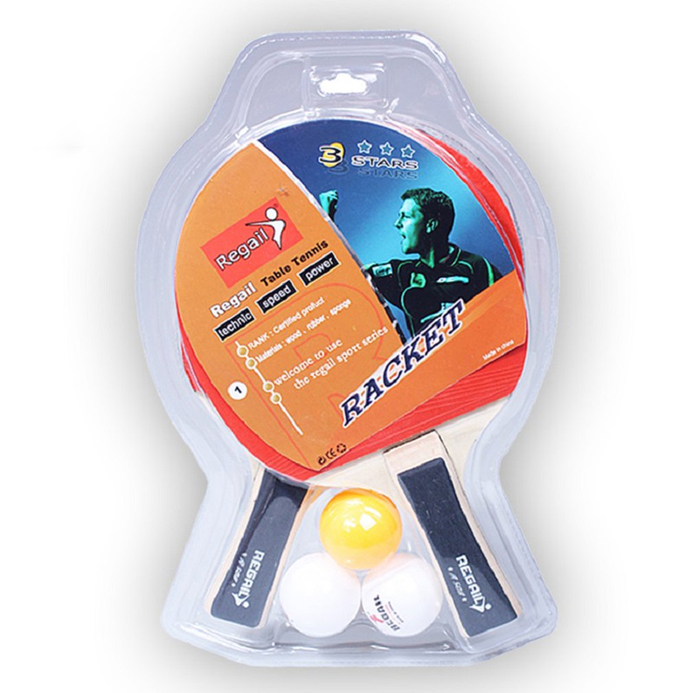 A508 Table Tennis Racket Beginner Set Table Tennis Racket Horizontal Shot Competition Training Beat 2Pcs