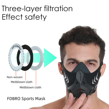 FDBRO New Sports Mask Pro Training Running Mask Cardio High Altitude Protective Breathing Trainer Air Filter Smog Dustproof Mask