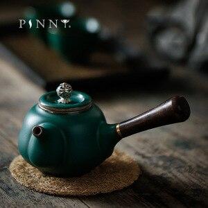 PINNY 180 мл японский стиль с боковой ручкой чайный горшок грубая керамика кунг-фу чайный горшок керамический бытовой чайный сервиз