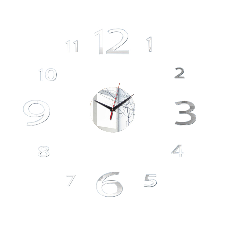 3D Wall Clock Acrylic Mirror Wall Stickers Modern DIY Wall Clocks Home Decor Living Room Quartz Needle reloj de pared 2020 NEW 20