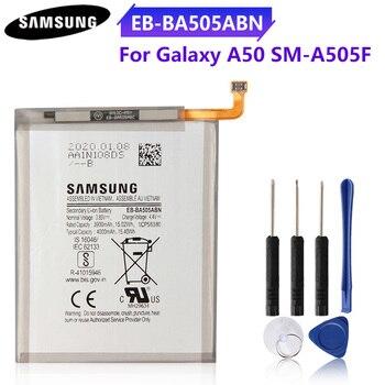 Genuine Phone Battery EB-BA505ABU EB-BA505ABN For SAMSUNG Galaxy A20 SM-A205FN A202F A50 A505F SM-A505F SM-A30S A30 A30S 4000mAh смартфон samsung galaxy a50 64gb sm a505f 2019 синий