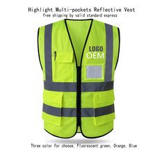 Highlight Reflective Vest Construction Site Safety Workwear
