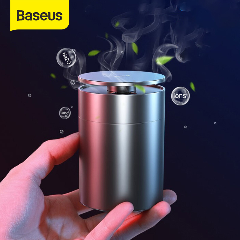 Baseus Car Air Purifier Freshener Vehicle Ions Formaldehyde Air Cleaner Auto Diffuser Solid Car Perfume