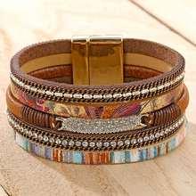 Женские многослойные широкие браслеты ifmia в стиле бохо со