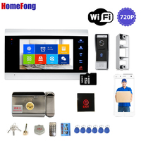 Homefong WIFI Video Door Phone Video Intercom with Lock AHD720P Motion Record Bell Ring Security Home System Access Control
