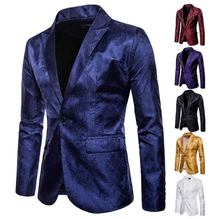 6 Colors Men Blazer Jacket Modern Fashion Groom Groomsmen Wedding Blazer Suit For Men Costume Red Top Jacket For Men Plus Size(China)