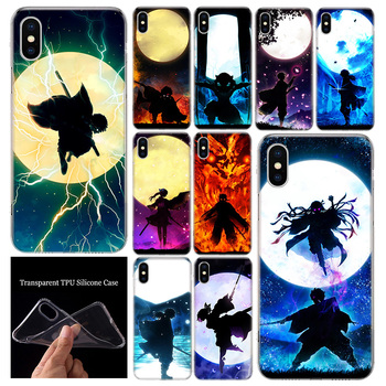 Demon Slayer Kimetsu No Yaiba Dark Phone Case Cover For Apple iphone 12 Mini 11 Pro XR X XS Max 7 8 6 6S Plus + 7G 6G 5 SE Patte image