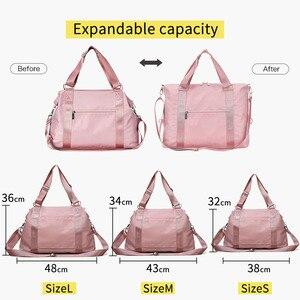 Image 3 - 2020 Women Travel Bag Fitness Gym Bag For Female Training Sports Yoga Sport Bag Carry On Luggage Duffle Tote Handbag XA793WB