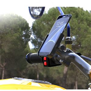Image 5 - אופניים טלפון מחזיק CNC אופנוע כידון Mobilephone תמיכת אלומיניום סגסוגת 360 סיבוב MTB כביש אופני הר אביזרים