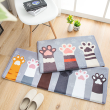 Cartoon Cat Claw Printed Hallway Rugs Carpet Bedroom Living Room Kitchen Area Rug Anti-slip Water Absorption Floor Mat Carpets brick wall pattern indoor outdoor water absorption area rug
