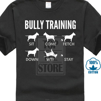Men Nice Shirts English Bull Terrier Bully Trainer Dog T Shirts Harajuku Tshirt Crazy Junior Humorous T Shirts Super Hero