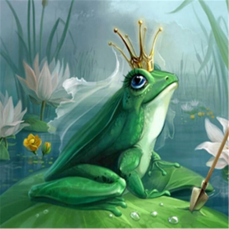 Popular home decor frog prince cross stud diamond painting