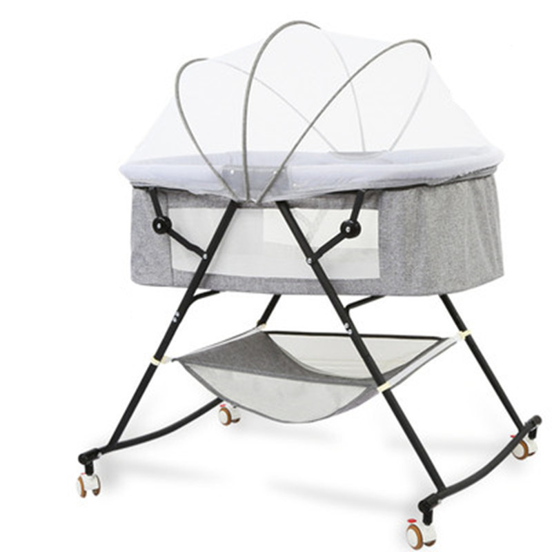 Cool Baby Baby Crib Movable Portable Baby Bed Folding Comfort Modern Simple Newborn Cradle Bed